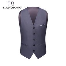 Discount button design suit - Men's Fashion Design Suit Vest Men Waistcoat Excellent Five Buttons Handmade Vest for Business Ceremony Wedding Men