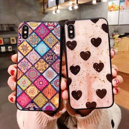 Love Heart Phone Australia - Luxury Gold Foil Bling Love Heart Phone Case For iPhone X XR XS Max Glossy Soft Silicon Case Cover For iPhone 7 8 6 6 Plus Coque