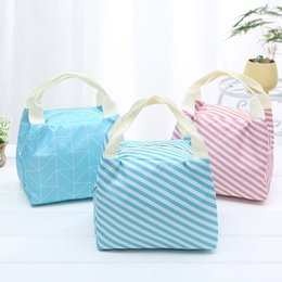 $enCountryForm.capitalKeyWord Canada - ISHOWTIENDA Striped Dot Portable Lunch Bag Thermal Insulated Cold keep Safe warm Lunch bags For Girls Women #XTJ