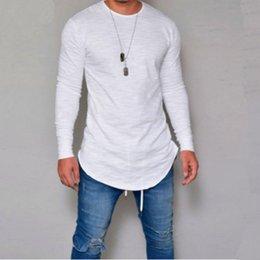 Slim Fit Black T Shirts Australia - Hot 2019 New Spring Fashion O-neck Slim Fit Long Sleeve T Shirt Men Trend Casual Mens T-shirt Black White T Shirts Tops 3xl