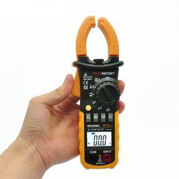 Freeshipping Alta Qualidade 1 pc Profissional Digital AC Clamp Meter Back light fluke Clips Multimetro Vazamento MS2008A Multímetro 2000 Contagens venda por atacado