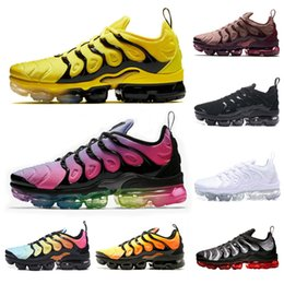 sports plus shoes Canada - 2019 fashion TN Plus Outdoor Shoes Opti Yellow Rainbow Smokey Mauve triple black Blue mens shoes women sports sneakers 09