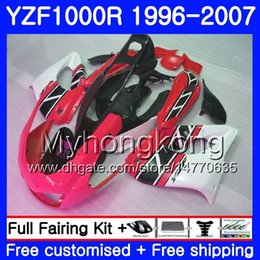 China Body For YAMAHA YZF1000R Thunderace 02 03 04 05 06 07 238HM.38 YZF 1000R YZF-1000R Red white hot 2002 2003 2004 2005 2006 2007 Fairing kit supplier white abs thunderace suppliers