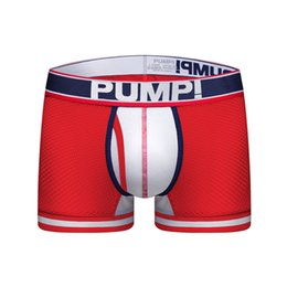 Realistic Jockmail Brand Cotton Sexy Men Underwear Mens Boxers Solid Black White Gray Low Waist U Convex Sports Comfort Pants Men Boxer Underwear & Sleepwears