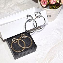 $enCountryForm.capitalKeyWord Australia - 2019 Simple Geometric Big Small Circle Drop Earrings For Women Fashion Statement Shiny Rhinestone Round Oorbellen Party Jewelry