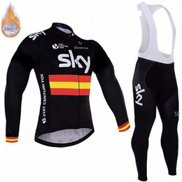 $enCountryForm.capitalKeyWord Australia - SKY 2019 long sleeve Thermal Fleece Cycling Jersey Winter Kit Bicycle Clothing Bike Warm Coolmax Ropa Ciclismo Bib Pants