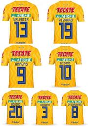 92a07ae8821 men TIGRES customized 18-19 HOME Yellow 9 VARGAS 10 GIGNAC Thai Quality  Soccer Jerseys tops
