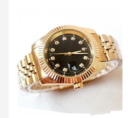 $enCountryForm.capitalKeyWord Australia - relogio masculino mens watches Luxury dress designer fashion Black Dial Calendar gold Bracelet Folding Clasp Master gifts couples