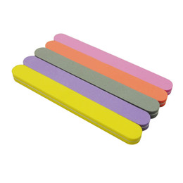 Art Buffer Files Australia - 5Pcs lot Mix Color Sunshine Nail File Straight 100 180 Nail Buffer Files Washable Manicure Nail Art Tools For Acrylic UV Gel