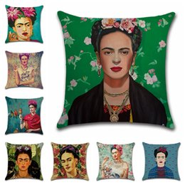 $enCountryForm.capitalKeyWord Australia - Women Self Portrait Pillow Case Sofa Car Cushion Cover Painter Frida Carol Female Draws Pattern Pillow Covers