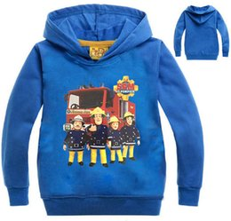 pink hoodies for boys Australia - 2020 New Kids Fireman Sam Print Pullover Hooded Hoodies Boys Girls Sweatshirts for Toddlers and Teens