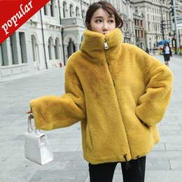 $enCountryForm.capitalKeyWord Australia - 2019 Winter Loose Zipper Stand Collar Casual Imitation Mink Fur Coat Short Plus Size Thick Warm Women's Faux Fur Jacket W1692