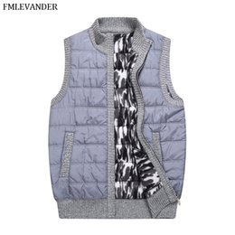 sleeveless vest coat for men 2020 - Gift For Father Dad Winter Autumn Spring Thick Sweaters Sleeveless Cardigans Sweater Vest Coat Men cheap sleeveless vest