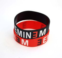 Chinese  wholesale Lot Cartoon Eminem logo Silicone Rubber Wristband Bracelet For Kids Girls Gift manufacturers