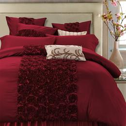 Bedsheet Cotton White Australia - 4 6Pcs Luxury Silk Cotton Floral Bedding set Queen King Super King size Wedding Bed set Duvet cover Bedsheet Bedlinen Pillowcase