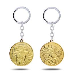 Necklaces Pendants Australia - JoJos Bizarre Adventure Key Chain Kujo Jotaro StarPlatinum Pendant Necklace Choker Keychain Keyrings Gift Jewelry for Mens