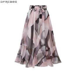 $enCountryForm.capitalKeyWord NZ - 2019 Streetwear Women Summer Skirt Elastic High Waist Jupe Femme 5xl Plus Size Falda Midi Pink Black Saia Bow Print Floral Skirt MX190709