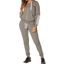Jogger Outfit Women NZ - 19 Spring Womens 2 Piece Outfits 4 Colors Hooded Sweatshirt Jogger Sets Casual Sport Suits Women Tracksuit