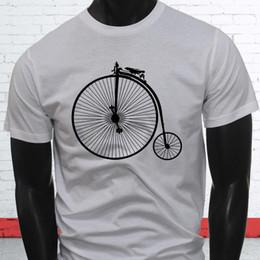 $enCountryForm.capitalKeyWord Australia - Fast Big Tricycle Unique Brakes 1800s High Wheel Bicycle Mens White T-Shirt