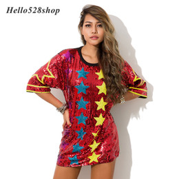 Sequin Stage ShirtS online shopping - Hello528shop Multiple Stars Pattern DS Singer Performance Dance Costumes Women Clothes Hip Hop Stage Sequins T shirt Tops Ladies