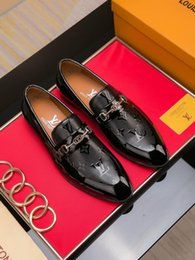 Discount french shoes brands - New French brand men's dress shoes high quality leather breathable men's banquet dress casual shoes free shipp