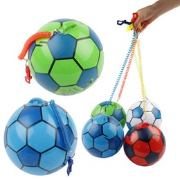 inflatable new game Australia - 8 inch New PVC Inflatable Training Soccer with Chain Swimming Pool Football Play Water Game Balloons Beach Party Sport Kids Toys C714