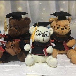 Toy Graduation Bear Australia - Graduation Birthday Gift Child Toy Bear Cute Doctor Hat Dude Teddy Bear Plush ToyManufacturers wholesale new retro couple teddy bear plush