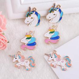 Unicorn charms online shopping - 10pcs Enamel Unicorn Charms Jewelry Making Crafting Fashion Earring Charm Zinc Alloy Cute Horse Animal Pendants Handmade Jewelry Accessory