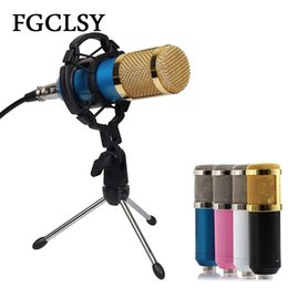 $enCountryForm.capitalKeyWord Australia - Microphone Condenser Sound Recording Bm800 Wired Microphone With Shock Mount For Radio Singing Recording Kit Ktv Karaoke Bm 800 T190704