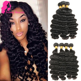 hair extensions india Australia - 9A Indian Loose Deep Curly Remy Human Hair 3  4 Bundles Rabake Brazilian Peruvian Malaysian Raw India Loose Deepwave Hair Extensions Deal
