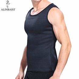$enCountryForm.capitalKeyWord Australia - Men's Neoprene Slimming Vest T Shirt Sauna Sweat Thermal Waist Trainer Tank Top Weight Loss Belt Tummy Tuck