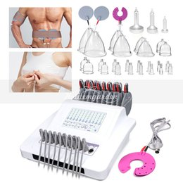 Massager digital therapy online shopping - New Design Digital Frequency Microcurrent Muscle Stimulation Vacuum Therapy Breast Massager Body Shaping Beauty Machine Bust Enhancer Spa CE