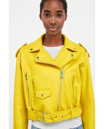 $enCountryForm.capitalKeyWord Australia - Yellow Faux Leather Jacket Punk Rock Young Pop Stylish Music Festival Singer Industrial Coats Promoiton price !