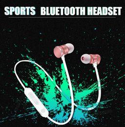 Iphone Earphones Metal Australia - X3 Bluetooth headphones Earphone one piece sample Wireless Headset Magnetic Metal Earphones Stereo Sports In-Ear Headset with Mic iPhone