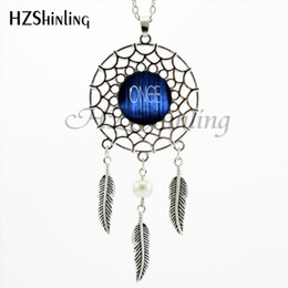 silver dreamcatcher necklace Australia - 2020 Trendy Style Once Upon A Time Necklace Letter Pendant Quote Jewelry Silver Dreamcatcher Necklace NDC-0017