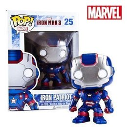 Iron Man Mini Toys NZ - Anime Toys For Children FUNKO POP Iron Man Action Figure Collection Toy Toys For Kids 1pcs