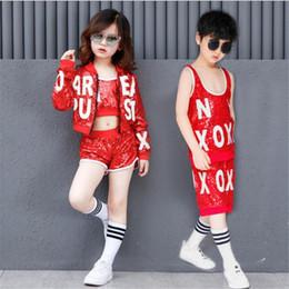 $enCountryForm.capitalKeyWord Australia - New children Hip Hop Sequin Costume Kids Jazz Dance Street Dance Performance Clothing Modern Dance for Boys Girls Clothes