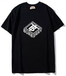 Cube blaCk letters online shopping - 2019 new tee black bbr men women cube letter logo print T Shirt short Sleeve O neck T Shirt S XXL