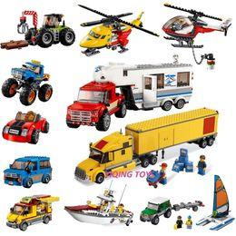 $enCountryForm.capitalKeyWord UK - All Series City Great Vehicles Building Blocks Bricks Compatible Legoe Car Plane Ship Model Toys For Childrens Kid GiftMX190820