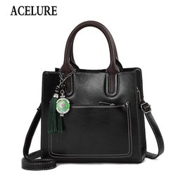 $enCountryForm.capitalKeyWord NZ - ACELURE Vintage PU Leather Ladies HandBags Women Messenger Bags TotesTassel Designer Crossbody Shoulder Bag Hand Bags Hot Sale