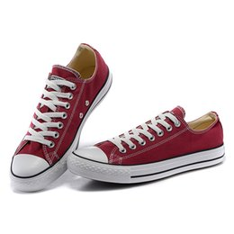 Burgundy Canvas Shoes Australia - Women luxury Casual Shoes Sneakers Fashion Flats Canvas Lace Up Breathable Solid Color Burgundy Shoes