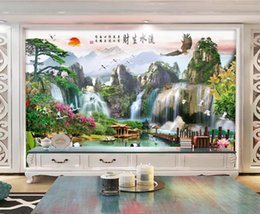 eagle decor UK - Custom 3D Photo Wallpaper Star Universe Galaxy Room Waterfall eagle landscape pain Wall Painting Living Room Bedroom Wallpaper Home Decor