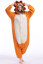 $enCountryForm.capitalKeyWord Australia - Animal Unisex Adult Orange Lion Kigurumi Pajamas High Quality Flannel Family Party Onesies Cosplay Costumes Jumpsuits
