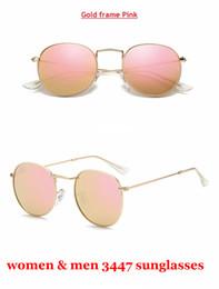 $enCountryForm.capitalKeyWord Canada - Round Metal Vintage Sunglasses 3447 brand designer sunglasses Unisex High Quality Sunglass UV400 Glass Lenses with Original Leather Box