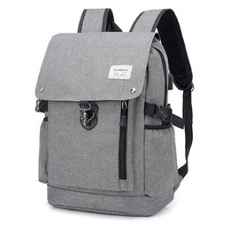 nylon 17 inch laptops UK - 15.6 inch Laptop Rucksack business Backpack Travel Backpack Large Capacity Business Bags USB Charge College Student School Bags hot