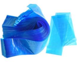 Pro Tek Kullanımlık Plastik Mavi Dövme Klip Kordon Kollu Kapak Çantası Dövme Makinesi Kaynağı Için Profesyonel Dövme Aksesuarı 100 adet / grup RRA1378