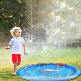 $enCountryForm.capitalKeyWord Australia - 100cm Baby Water Play Mat Kid Sprinkler Water Pad Summer Outdoor Sports Toys Children PVC Beach Lawn Cushion Children's Games