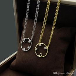 Letter D Pendant Australia - New Arrive Fashion Lady Titanium steel Letter D 18K Plated Gold Necklaces With Hollow out Three Diamond Pendant Bracelet 2 Color