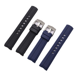 panerai rubber 2020 - 20 22mm high quality silicone rubber deployment Pure Color Rubber Silicone Replacement Watch Band with Strap discount pa