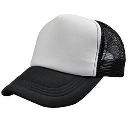 750246b0c0a Unisex Women Men Plain Baseball Cap Solid Trucker Mesh Blank Curved Visor  Hat Adjustable